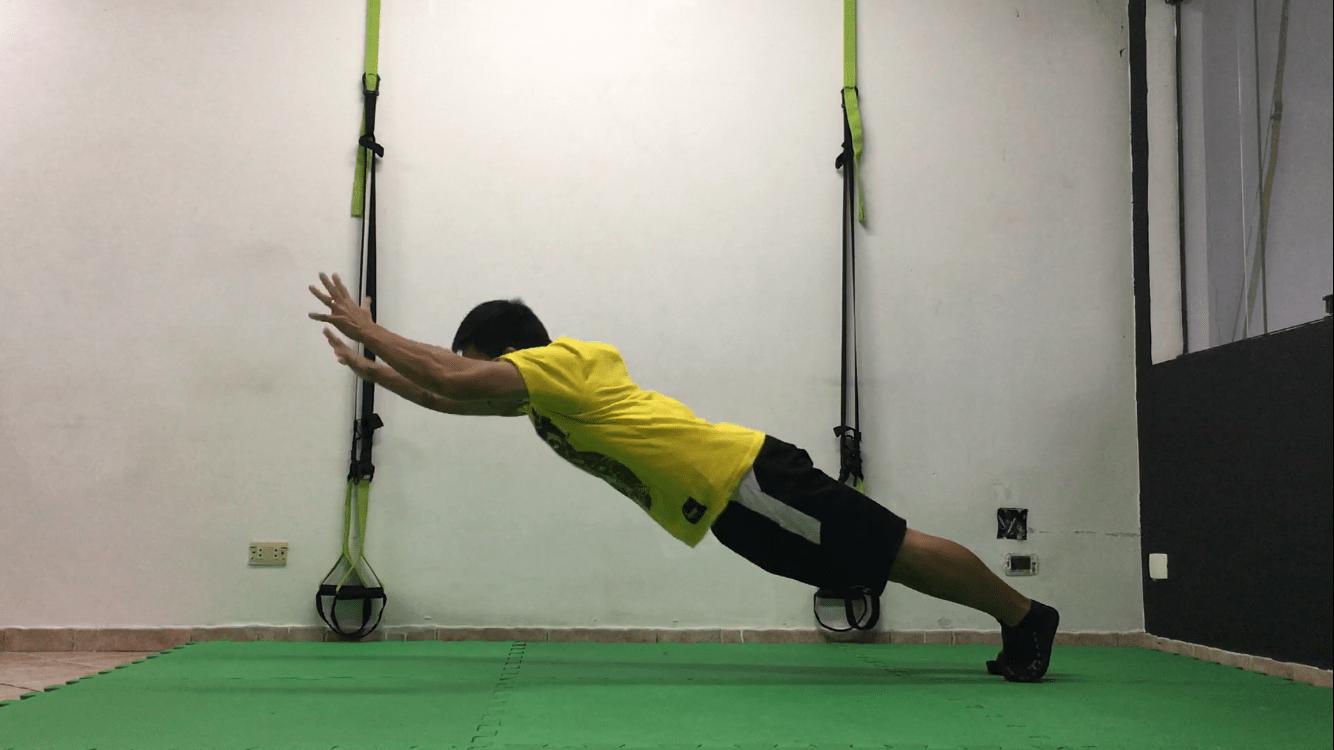 Flexão com elevação de braços