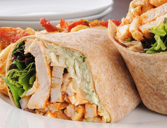 8 receitas com frango - wrap