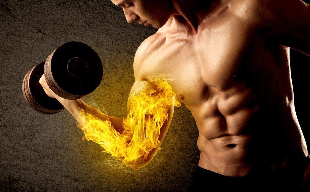 musculo queimando