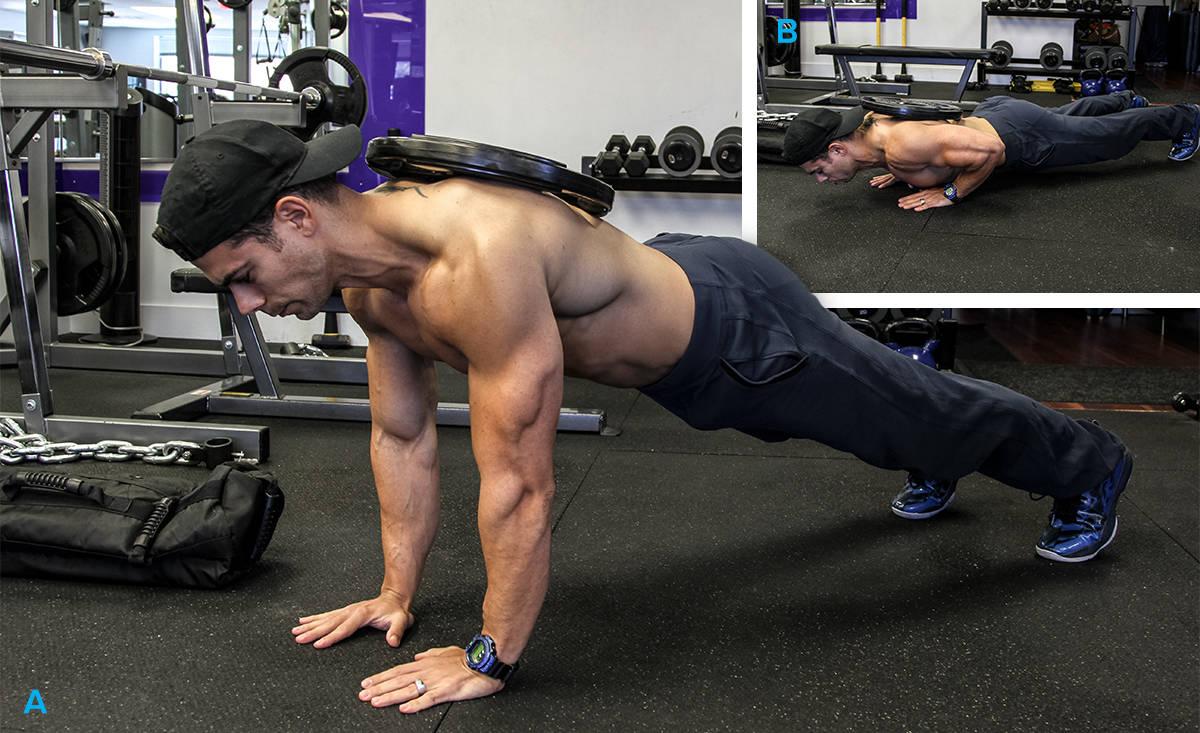 Exercicios Peitoral - flexao com peso