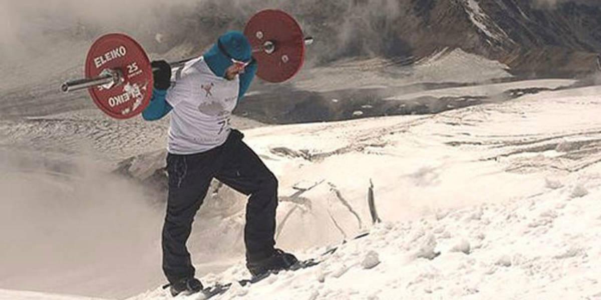 russo escala montanha barra peso carga