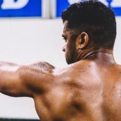 russel wilson - NFL - treino boxe