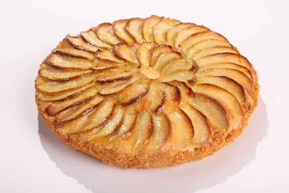 low carb - torta de maçã frigideira