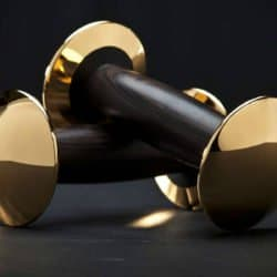 hock gold dumbbell