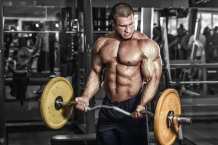 treinamento, força, bodybuilder