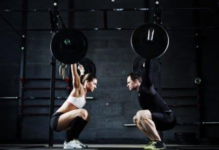 homem, mulher, treino