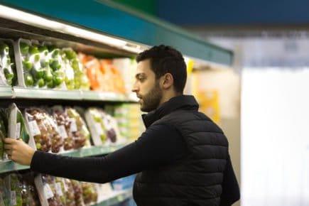 pessoa, comprando, supermercado