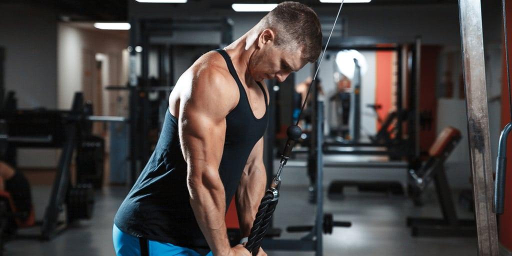 triceps, corda, extensão