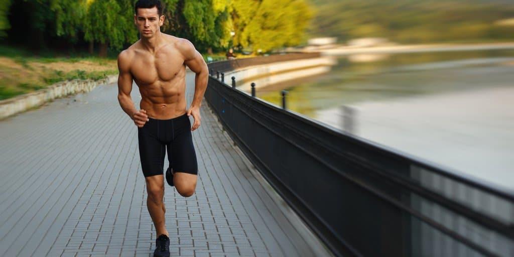 Homem, correndo, corrida