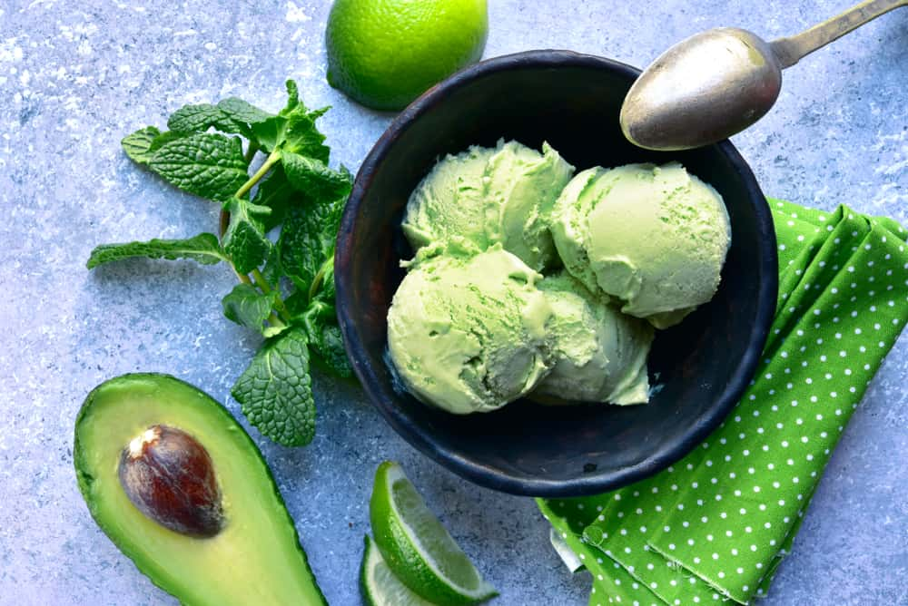 sorvete abacate