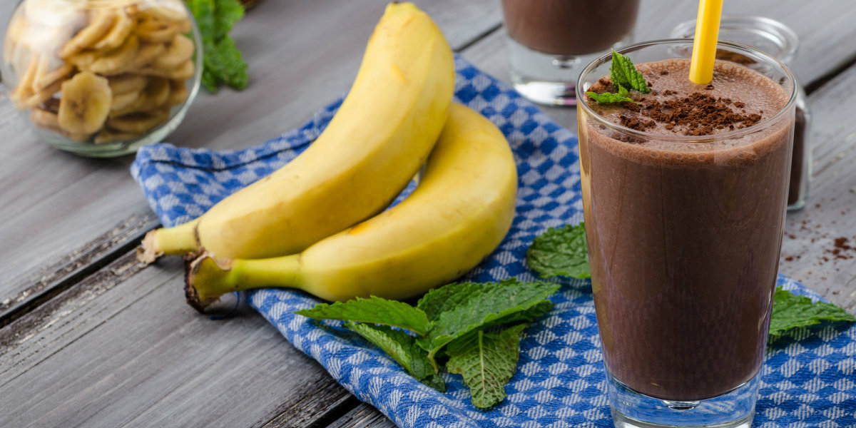 smoothie, chocolate, banana
