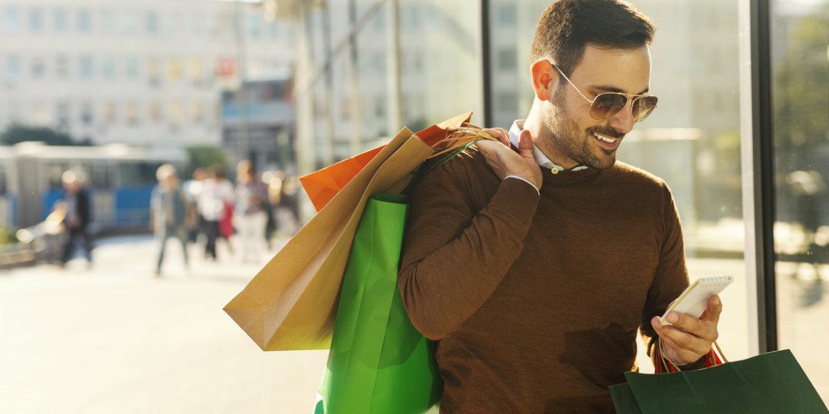 black week, homem, shopping