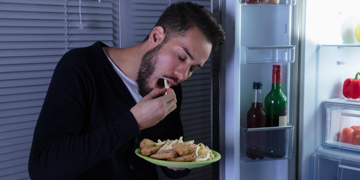 fome, noite, geladeira
